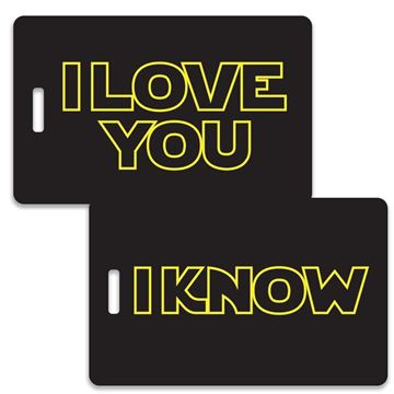 Picture of Space Couples Luggage Tag