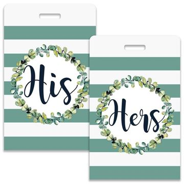 Picture of His & Hers Stripes Couples Luggage Tag
