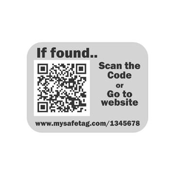 Picture of Grey Identity Safe Sticker Tags