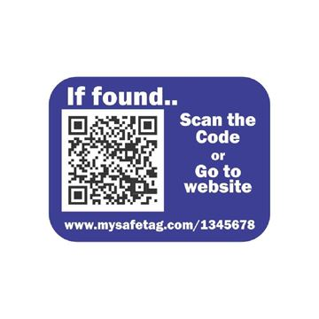Picture of Navy Blue Identity Safe Sticker Tags