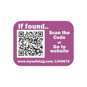 Picture of Purple Identity Safe Sticker Tags