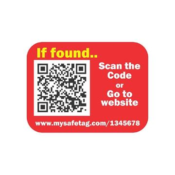 Picture of Red Identity Safe Sticker Tags