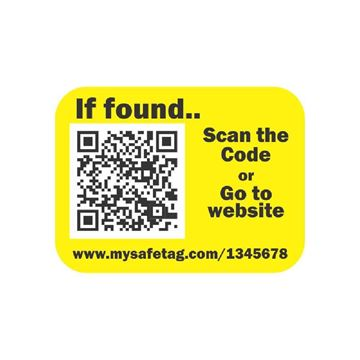 Picture of Yellow Identity Safe Sticker Tags