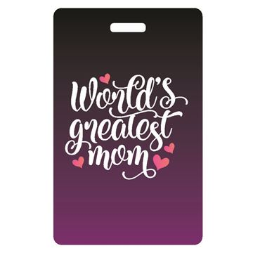 Picture of World's Greatest Mom Luggage Tag