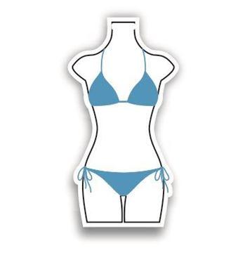 Picture of Blue Bikini Shaped Luggage Tag