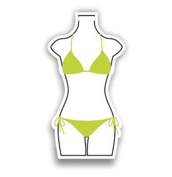 Picture of Green Bikini Shaped Luggage Tag