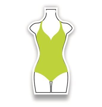 Picture of Green Bathing Suit Shaped Luggage Tag
