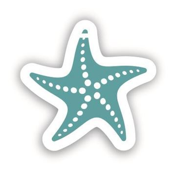 Picture of Blue Starfish Shaped Luggage Tag