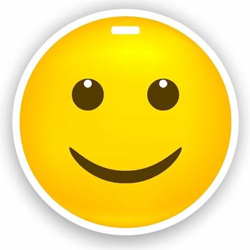 Picture of Happy with Open Eyes Emoji Luggage Tag