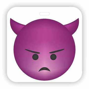 Picture of Angry Devil Emoji Luggage Tag