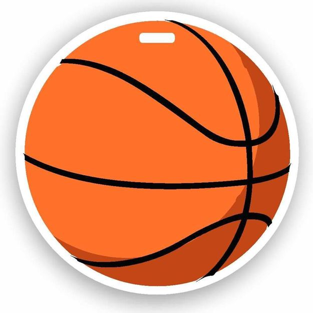 Picture of Basketball Emoji Luggage Tag