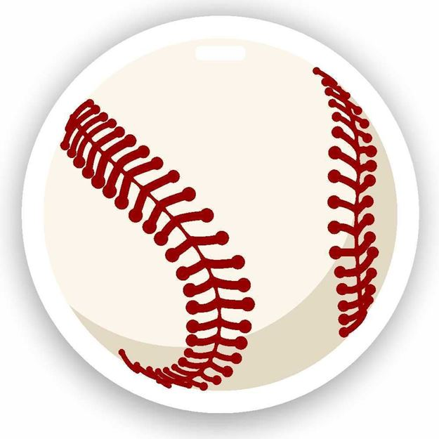 Picture of Baseball Emoji Luggage Tag