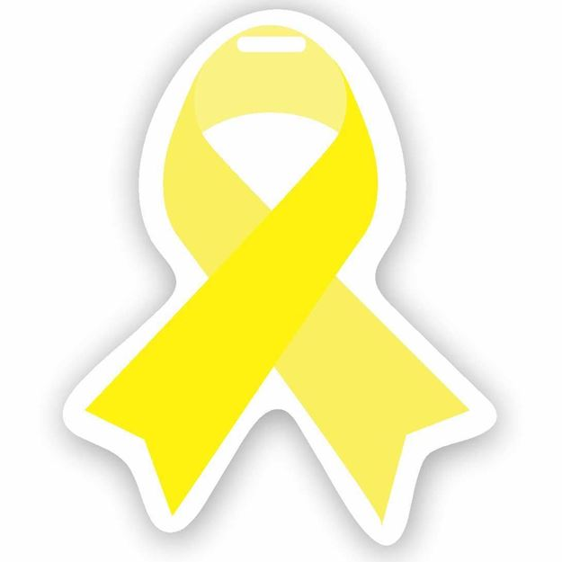 Picture of Yellow Ribbon Luggage Tag