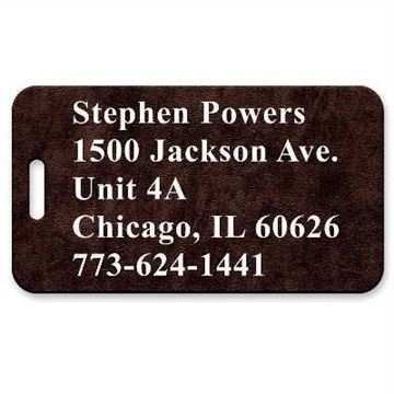 Picture of Elegant Brown Vintage Leather Luggage Tag