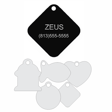 Picture of Black Engraved Aluminum Pet Tag