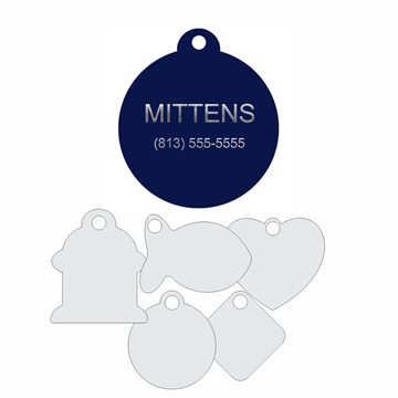 Picture of Blue Engraved Aluminum Pet Tag