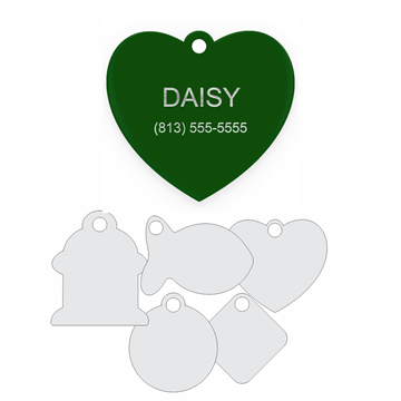 Picture of Green Engraved Aluminum Pet Tag