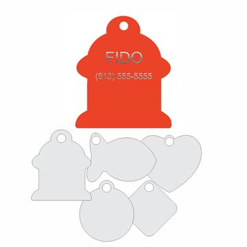 Picture of Orange Engraved Aluminum Pet Tag