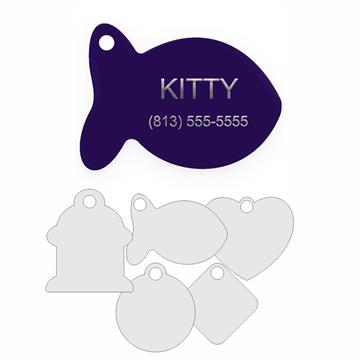 Picture of Purple Engraved Aluminum Pet Tag
