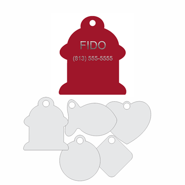 Picture of Red Engraved Aluminum Pet Tag