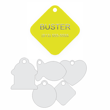 Picture of Yellow Engraved Aluminum Pet Tag