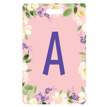 Picture of Pink Blooming Flowers  Monogram Luggage Tags