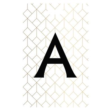 Picture of Art Deco Monogram Luggage Tags