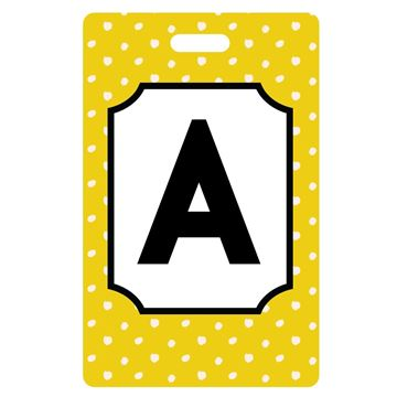 Picture of Mustard with Dots Monogram Luggage Tags