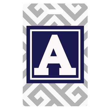 Picture of Gray Greek Key Design  Monogram Luggage Tags