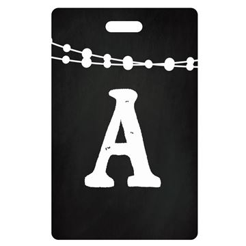 Picture of Black and White Lights Design Monogram Luggage Tag