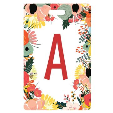 Picture of Wildflowers Design Monogram Luggage Tag