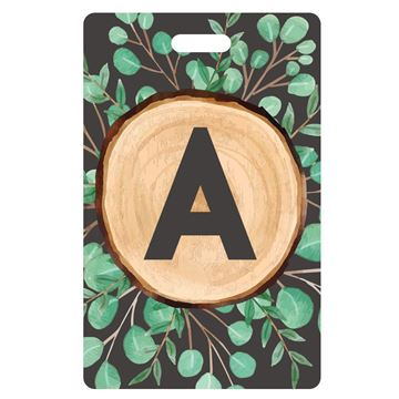 Picture of Woods Design Monogram Luggage Tags