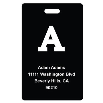 Picture of Black Design Monogram Luggage Tags