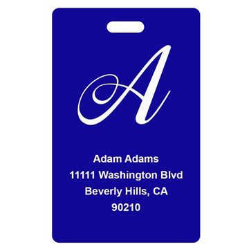 Picture of Blue Design Monogram Luggage Tags
