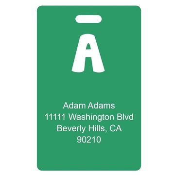 Picture of Green Design Monogram Luggage Tags