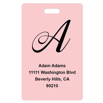 Picture of Pink Design Monogram Luggage Tags