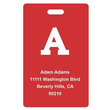 Picture of Red Design Monogram Luggage Tags