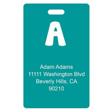 Picture of Teal Design Monogram Luggage Tags
