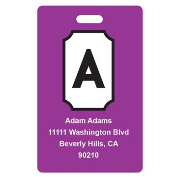 Picture of Violet Design Monogram Luggage Tags