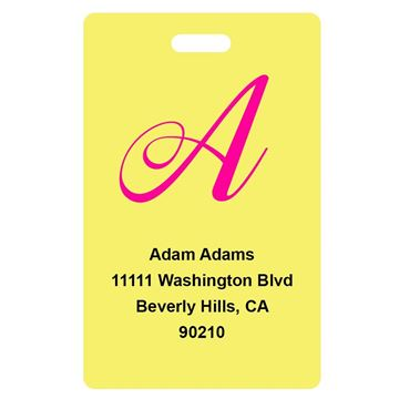 Picture of Yellow Design Monogram Luggage Tags