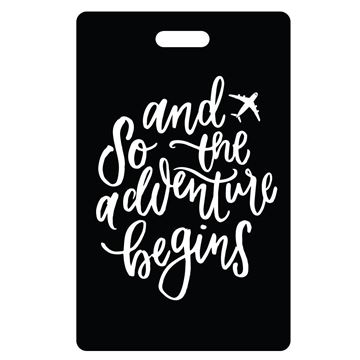 Picture of And So the Adventure Begins Black Luggage Tags