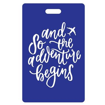 Picture of And So the Adventure Begins Blue Luggage Tags