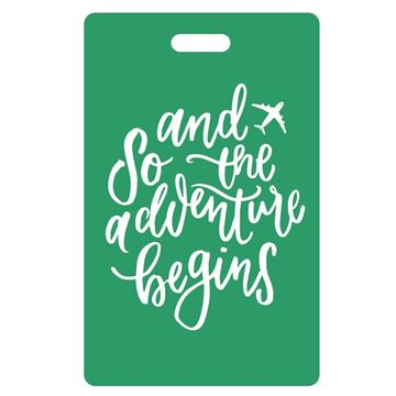 Picture of And So the Adventure Begins Green Luggage Tags