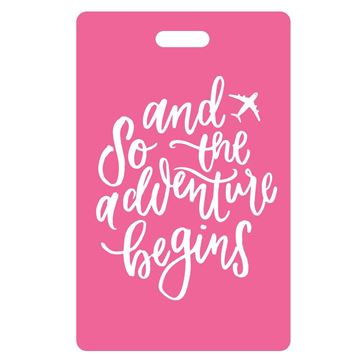 Picture of And So the Adventure Begins Hot Pink Luggage Tags