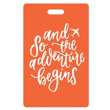 Picture of And So the Adventure Begins Orange Luggage Tags