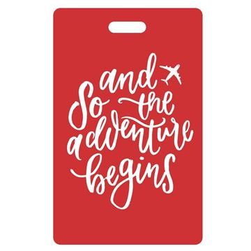 Picture of And So the Adventure Begins Red Luggage Tags