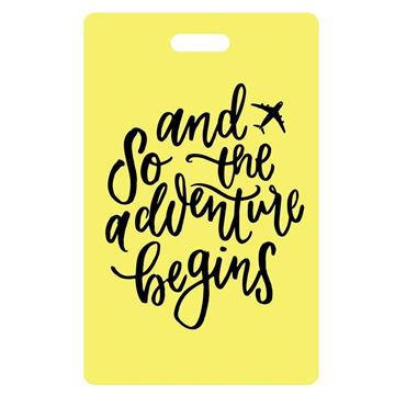 Picture of And So the Adventure Begins Yellow Luggage Tags