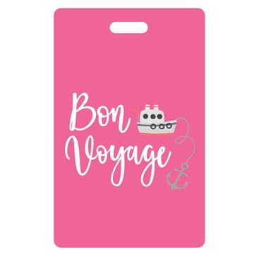 Picture of Bon Voyage  Hot Pink Luggage Tags
