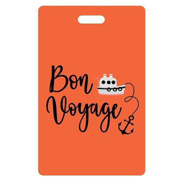 Picture of Bon Voyage Orange Luggage Tags